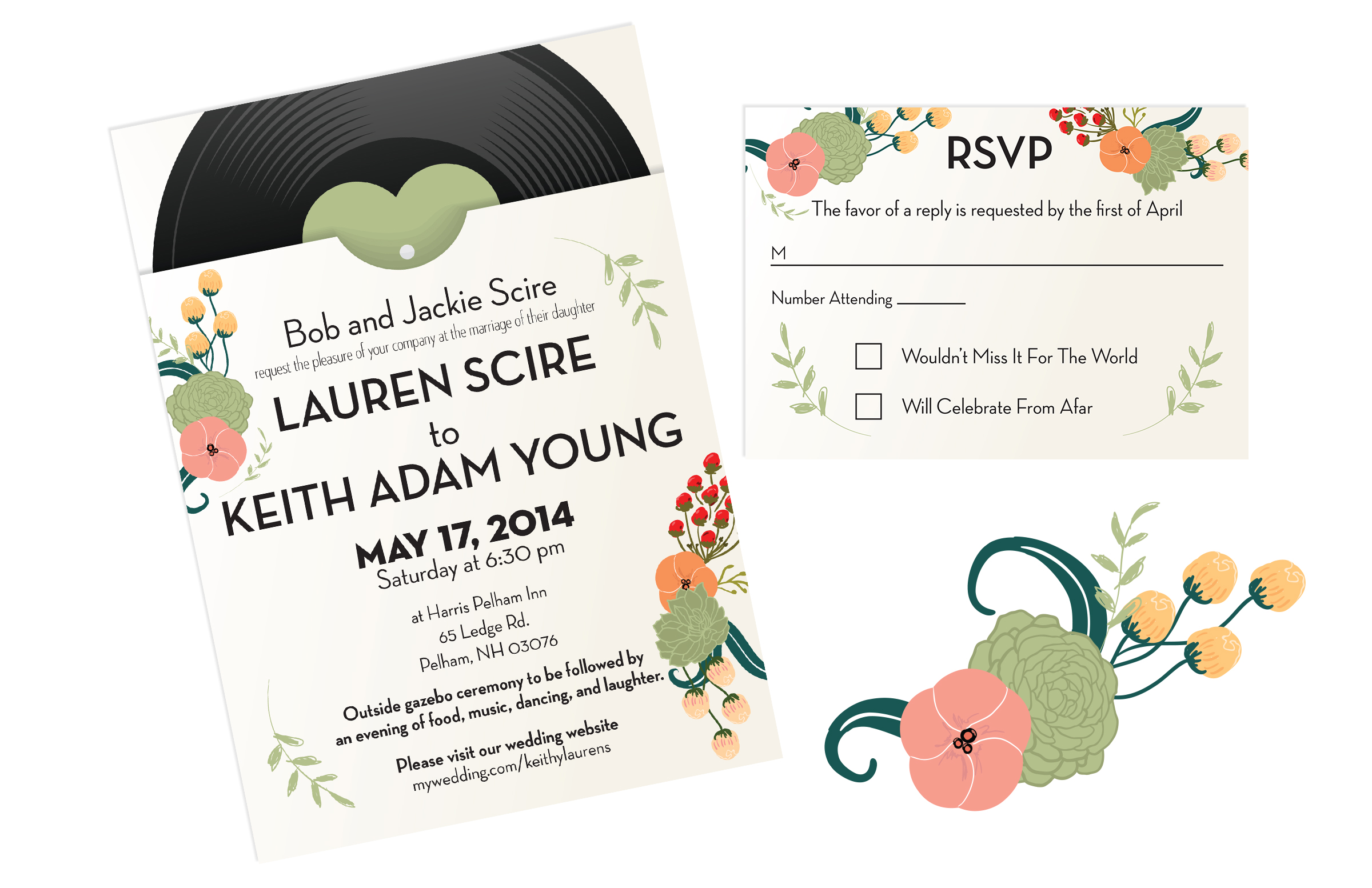 Keith and Lauren Wedding Invitations