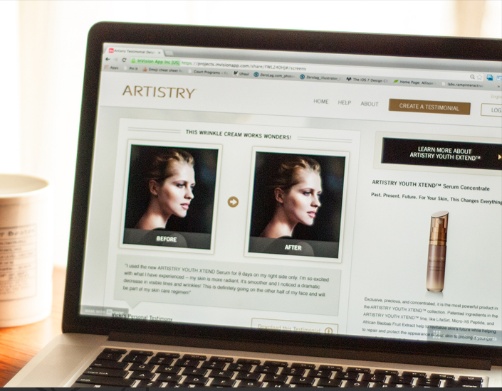 Amway Artistry Mini Site